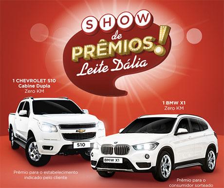 Promoção Show de Prêmios Leite Dália