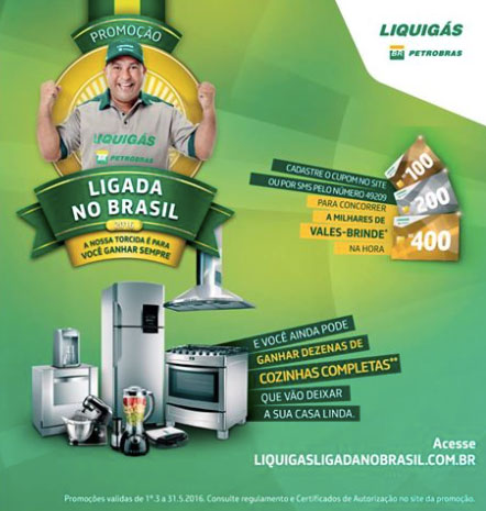 Promoção Liquigás Ligada no Brasil 2016
