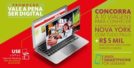 Promoção Santander Vale a pena ser digital