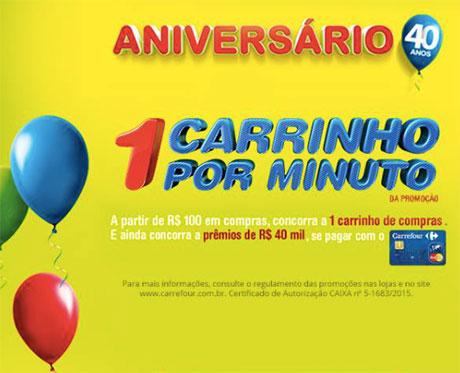 Promoção Carrefour 1 Carrinho por minuto