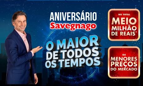 Promoção Aniversário Savegnago Supermercados