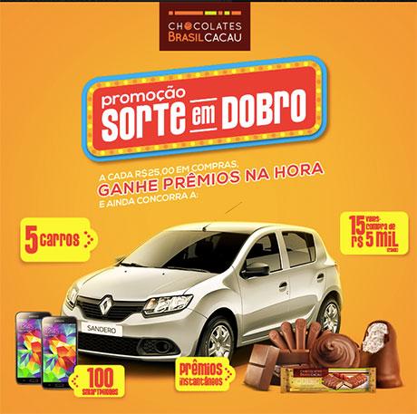Promoção Sorte em Dobro Chocolates Brasil Cacau