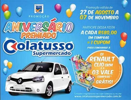 Promoção Aniversário Premiado Colatusso