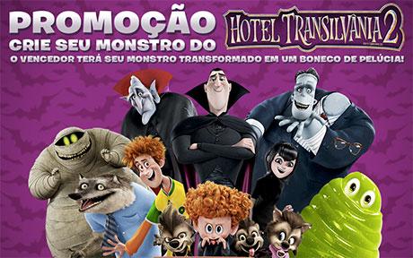 Promoção Crie seu monstro de Hotel Transilvânia 2