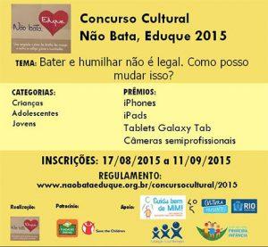 Promoção Rede Não Bata, Eduque 2015