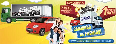 Promoção Caminhão de Prêmios Barbosa Supermercados