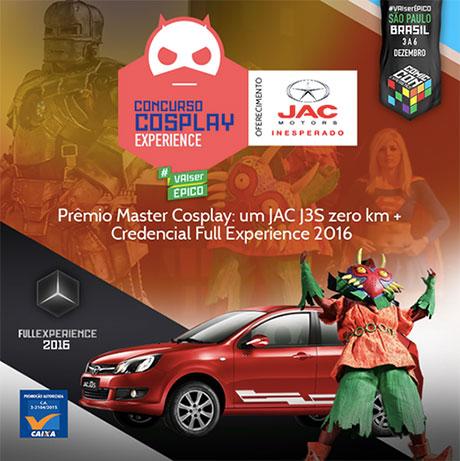 Concurso Cosplay Experience CCXP Eventos e JAC Motors