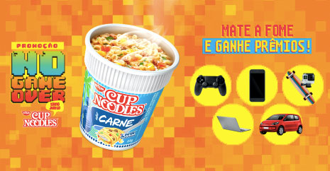 Promoção No Game Over Cup Noodles