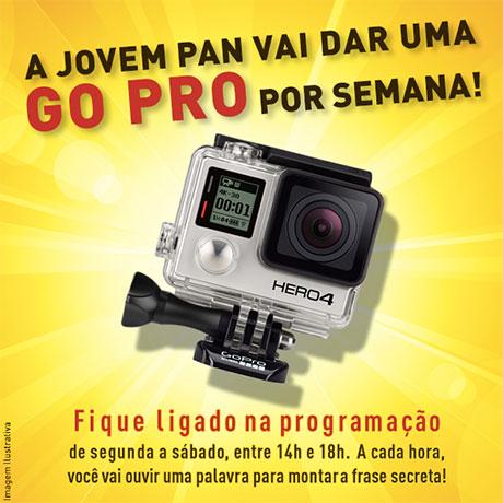Promoção Jovem Pan Uma Go Pro Hero 4 por semana