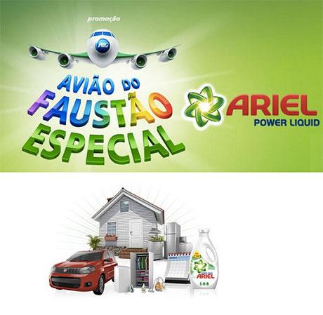 Promoção P&G Avião do Faustão Especial Ariel Power Liquid