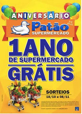 Promoção 1 Ano de Supermercado Grátis
