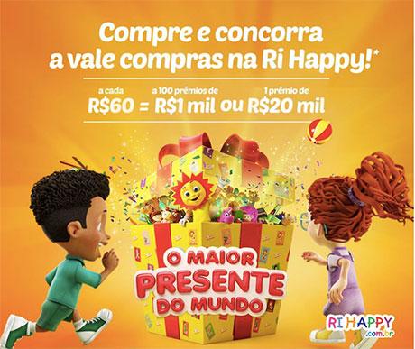 Promoção Ri Happy O Maior Presente do Mundo