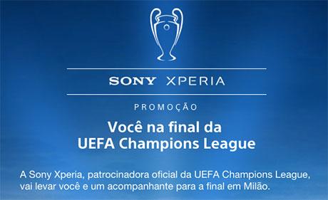 Promoção Sony Xperia Você na final da Liga dos Campeões da UEFA