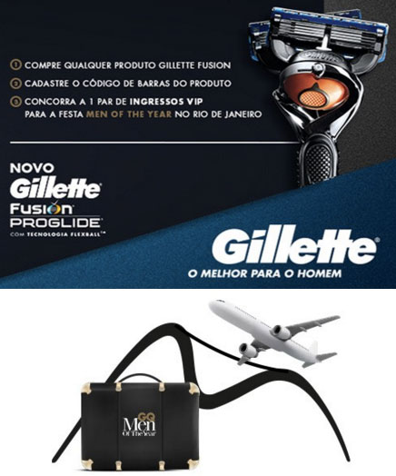 Promoção Men of The Year Gillette Flexball e GQ