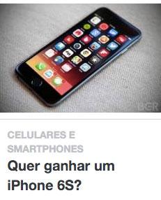 Promoção Pelando Quer ganhar um iPhone 6S?