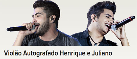 Promoção Rádio Disney Violão Autografado Henrique e Juliano