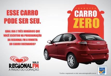 Promoção Rádio Regional FM dá um Carro Zero