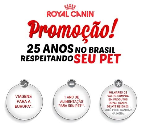 Promoção Royal Canin 25 Anos respeitando seu pet
