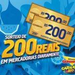 Promoção Sorteio de 200 reais por dia