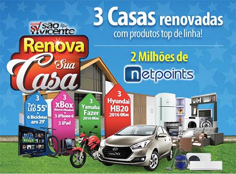 Promoção Supermercados São Vicente Renova sua Casa 2016