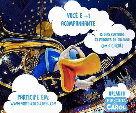 Promoção Orlando por conta da Carol Capel