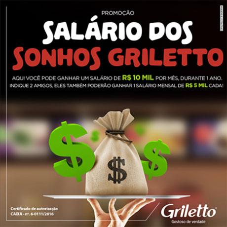Promoção Salário dos sonhos Griletto