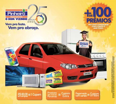 Promoção Pinheiro Supermercado 25 anos
