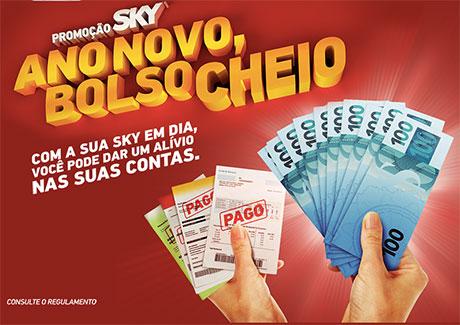 Promoção Sky Ano Novo Bolso Cheio