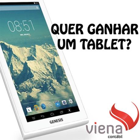 Promoção Viena Contábil Quer ganhar um Tablet Genesis
