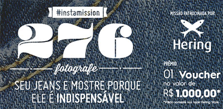 Promoção Instamission276 Fotografe seu jeans