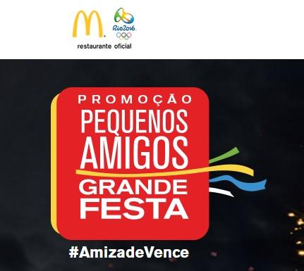 Promoção McDonald's Pequenos Amigos Grande Festa
