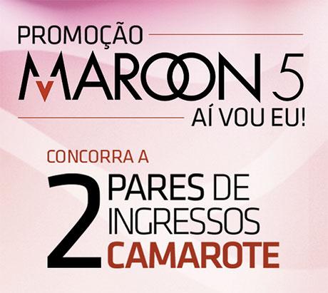 Promoção RioMar Fortaleza Maroon 5 Aí Vou Eu