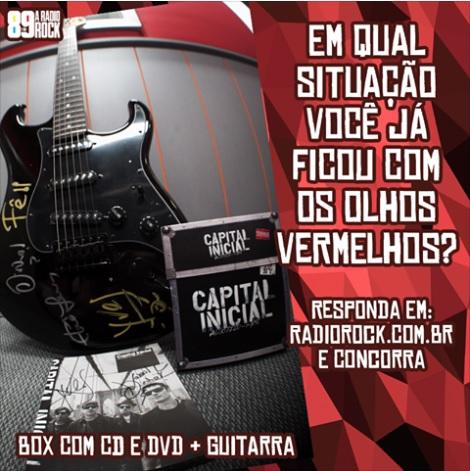 Promoção Guitarra e Box Autografados do Capital Inicial