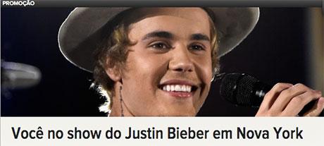Promoção Rádio Disney Você no show do Justin Bieber em Nova York