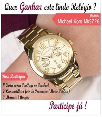 Promoção Emporio Moda Ganhe este Lindo Relógio Michael Kors
