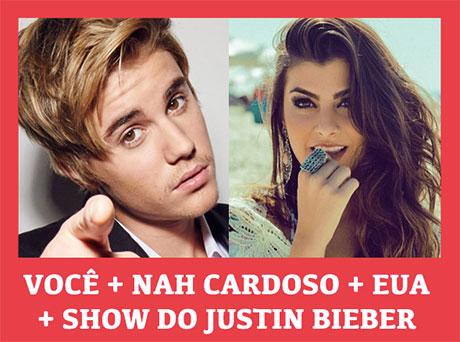 Promoção Mix FM Nah Cardoso e você no show do Justin Bieber