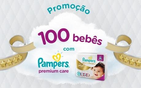Promoção 100 Bebês com Pampers Premium Care