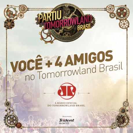Promoção Trident e Jovem Pan Partiu Tomorrowland