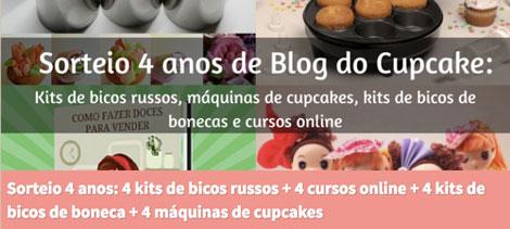 Promoção Sorteio de 4 anos do Blog do Cupcake