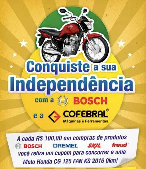 Promoção conquiste sua independência com a Bosch e a Cofebral