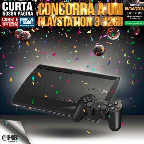 Promoção HB Games Concorra a um PlayStation 3