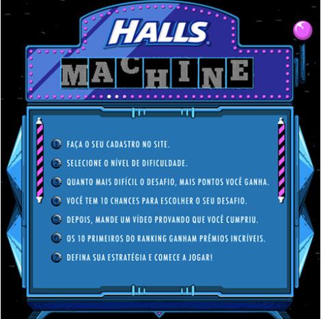 Promoção Halls Machine