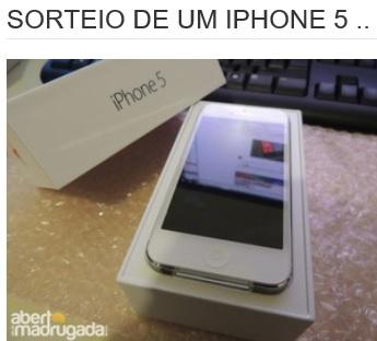 Promoção Hello Rapha Sorteio de um Iphone 5