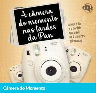 Promoção Câmera do momento nas tardes da Pan