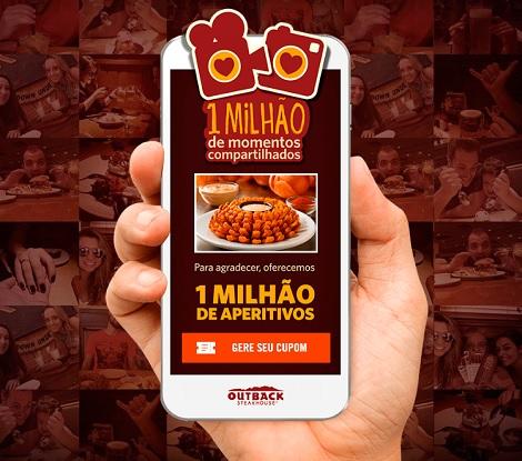 Campanha Outback Steakhouse 1 Milhão de Momentos