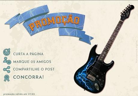 Promoção River Music Concorra a uma Guitarra Condor Strato RX-20 estilizada Trovão