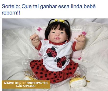 Promoção Ateliê Cheirinho de Bebê Que tal ganhar essa linda bebê reborn