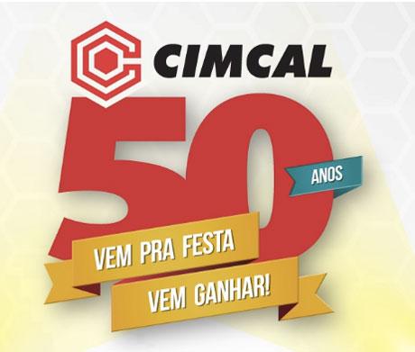 Promoção Cimcal 50 Anos vem pra festa vem ganhar
