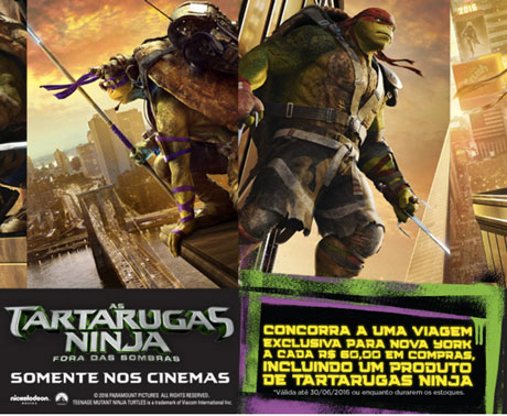 Promoção PBKids Tartarugas Ninja Fora das Sombras