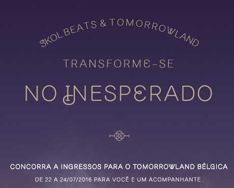 Promoção Skol Beats & Tomorrowland Bélgica